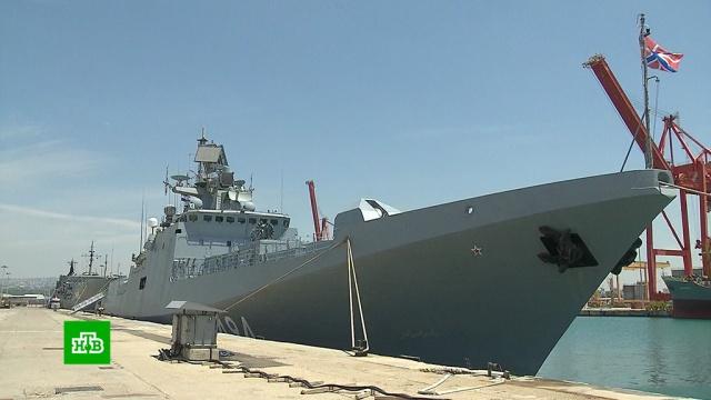 Корабли ВМФ России прибыли на базу Тартус вСирии.Сирия, Средиземное море, армия и флот РФ, войны и вооруженные конфликты, корабли и суда.НТВ.Ru: новости, видео, программы телеканала НТВ