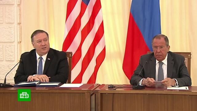 Переговоры Лаврова и Помпео продолжались три часа.Госдепартамент США, Лавров, МИД РФ, США, Сочи, дипломатия, переговоры.НТВ.Ru: новости, видео, программы телеканала НТВ