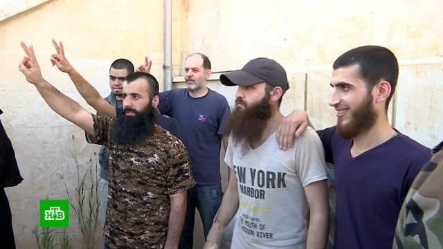 В Алеппо 9 пленных боевиков обменяли на 10 сирийских граждан.Сирия, войны и вооруженные конфликты, плен, терроризм.НТВ.Ru: новости, видео, программы телеканала НТВ