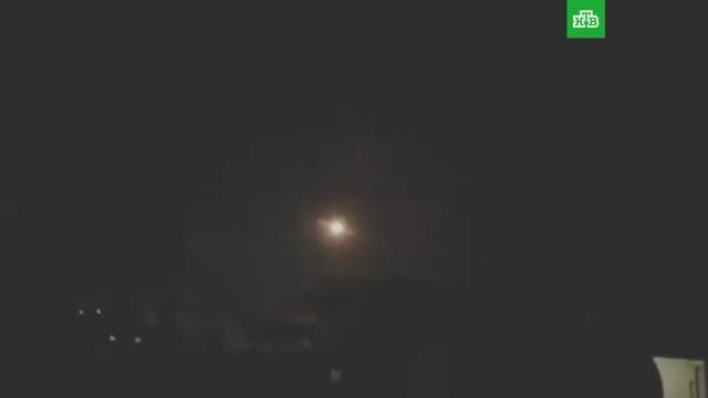 Отражение авиаудара по Дамаску попало на видео.Дамаск, ПВО, Сирия, войны и вооруженные конфликты.НТВ.Ru: новости, видео, программы телеканала НТВ