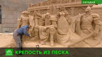 Пляж Петропавловской крепости заселяют героями сказок, былин и мифов