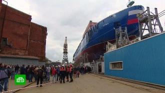 ВПетербурге спустили на воду атомный ледокол «Урал»