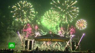 Красочное шоу на фестивале фейерверков вЕссентуках