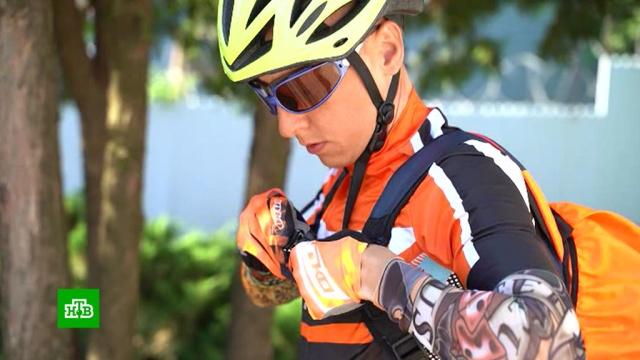 Онкобольной мужчина отправился вблаготворительный велотрип для детей-инвалидов.велоспорт, дети и подростки, инвалиды, онкологические заболевания.НТВ.Ru: новости, видео, программы телеканала НТВ