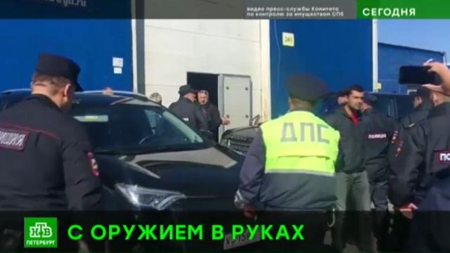 Предприниматель с питерского рынка встретил чиновников с оружием.Санкт-Петербург, полиция, торговля, ярмарки и рынки.НТВ.Ru: новости, видео, программы телеканала НТВ