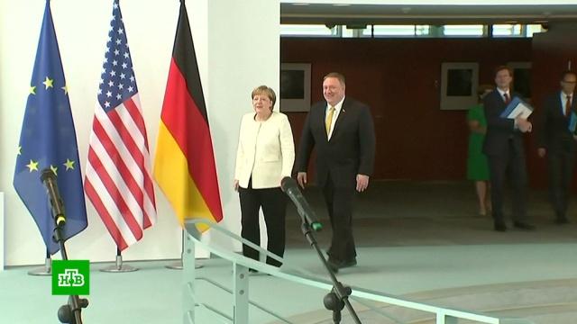 Госсекретарь США прибыл в Берлин.Берлин, Германия, Меркель, США.НТВ.Ru: новости, видео, программы телеканала НТВ
