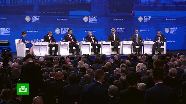 Путин пообещал проанализировать дискуссии на ПМЭФ иулучшить условия для бизнеса.ПМЭФ, Путин, экономика и бизнес.НТВ.Ru: новости, видео, программы телеканала НТВ