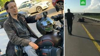 Блогер-байкер погиб, исполняя опасный трюк