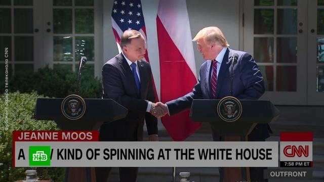 Паук сплел паутину между Трампом иДудой.Польша, США, Трамп Дональд.НТВ.Ru: новости, видео, программы телеканала НТВ