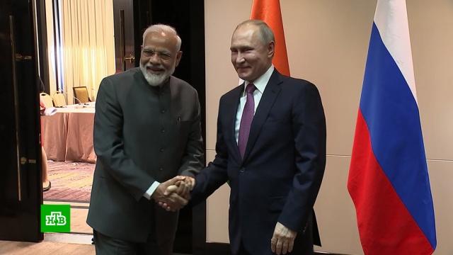 Моди предложил Путину провести встречу вформате Россия— Индия— Китай.Бишкек, Владивосток, Индия, Путин, ШОС, переговоры.НТВ.Ru: новости, видео, программы телеканала НТВ