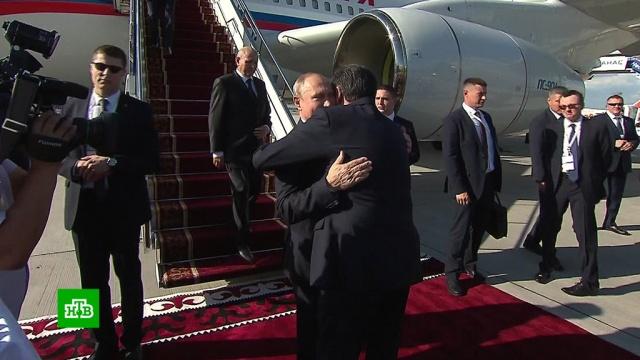 Путин прилетел в Бишкек на саммит ШОС.Бишкек, переговоры, Путин, ШОС.НТВ.Ru: новости, видео, программы телеканала НТВ