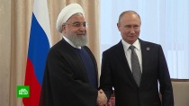 Путин провел встречу слидером Ирана на саммите ШОС