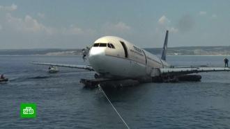 ВЭгейском море ради дайверов затопили Airbus <nobr>A-330</nobr>