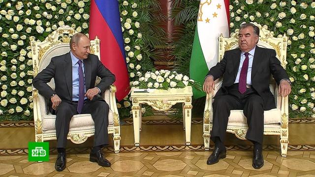 Путин и Рахмон в Душанбе обсудили вопросы стратегического партнерства.Путин, Таджикистан.НТВ.Ru: новости, видео, программы телеканала НТВ