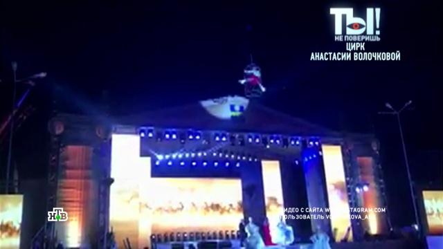 Волочкова показала чудеса ловкости на высоте 30 метров.Анапа, Волочкова, эксклюзив.НТВ.Ru: новости, видео, программы телеканала НТВ