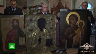 В подмосковный храм вернули украденные иконы