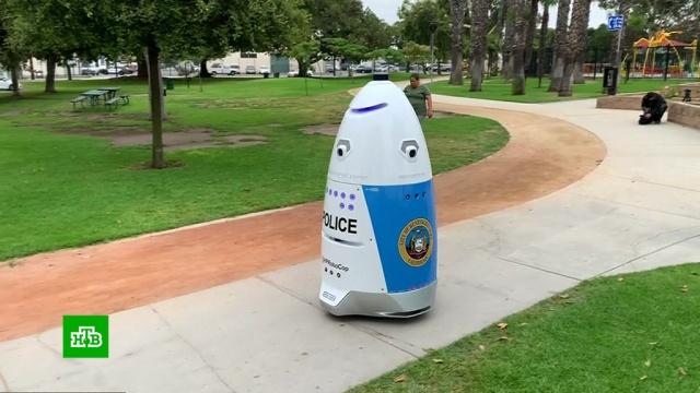Улицы Лос-Анджелеса патрулирует робокоп.США, полиция, роботы.НТВ.Ru: новости, видео, программы телеканала НТВ