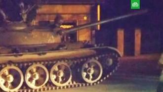 Пьяные поляки прокатились по центру города на советском танке