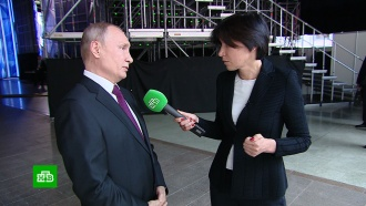 Путин ответил на вопрос НТВ о возможной встрече с Трампом