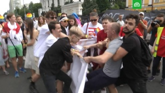 Потасовка на <nobr>гей-параде</nobr> вКиеве