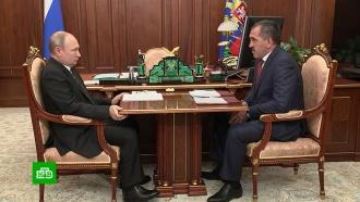 Путин поблагодарил Евкурова за работу на посту главы Ингушетии