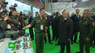 Путину показали боевых роботов