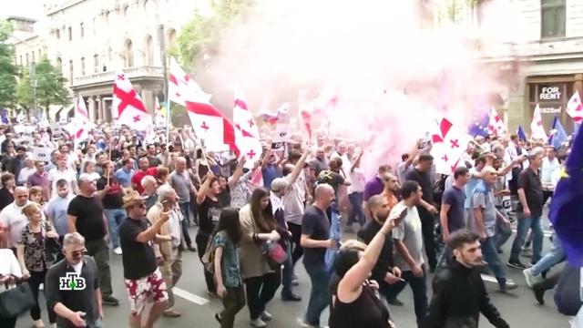 Хитрая афера: кто стоит за протестами вГрузии.Грузия, митинги и протесты.НТВ.Ru: новости, видео, программы телеканала НТВ