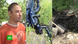 Житель Воронежской области рассказал, как выжил в яме с битумом