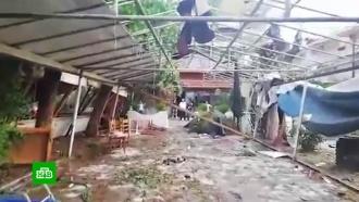«Посшибало все столы»: очевидцы рассказали оневероятном урагане вГреции