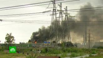 Пожар вМытищах: вокрестностях ТЭЦ вспыхнули общежитие истроительный рынок