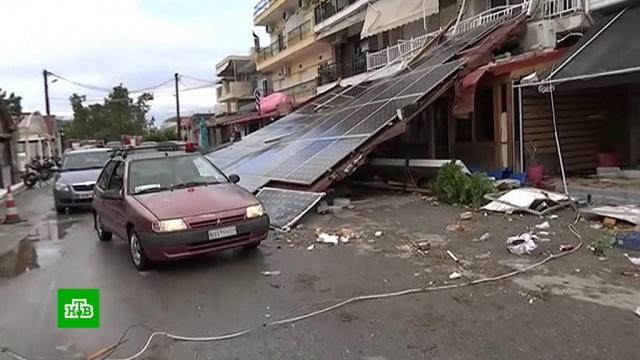 Ураган вГреции: российские туристы погибли мгновенно.Греция, стихийные бедствия, туризм и путешествия, штормы и ураганы.НТВ.Ru: новости, видео, программы телеканала НТВ