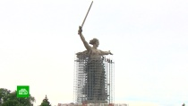 В Волгограде начали реставрировать «Родину-мать»