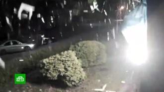 Видео выстрела по зданию телеканала «112Украина»