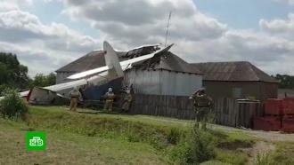 ВЧечне легкомоторный самолет упал на жилой дом