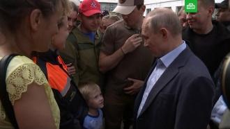 Путин пообещал радиоуправляемый «Мерседес» мальчику из затопленного Тулуна