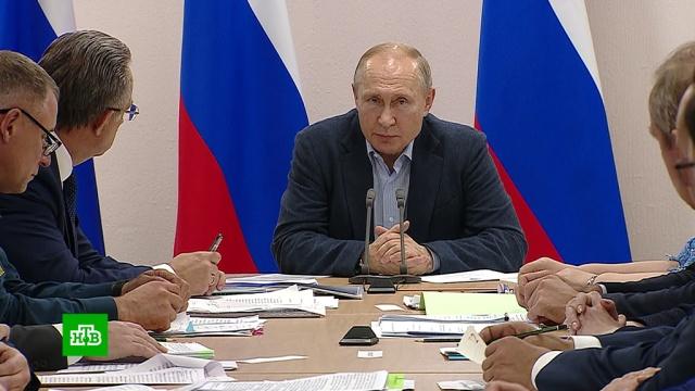 Путин выслушал жалобы людей и устроил разнос чиновникам.Иркутская область, Путин, компенсации, наводнения.НТВ.Ru: новости, видео, программы телеканала НТВ