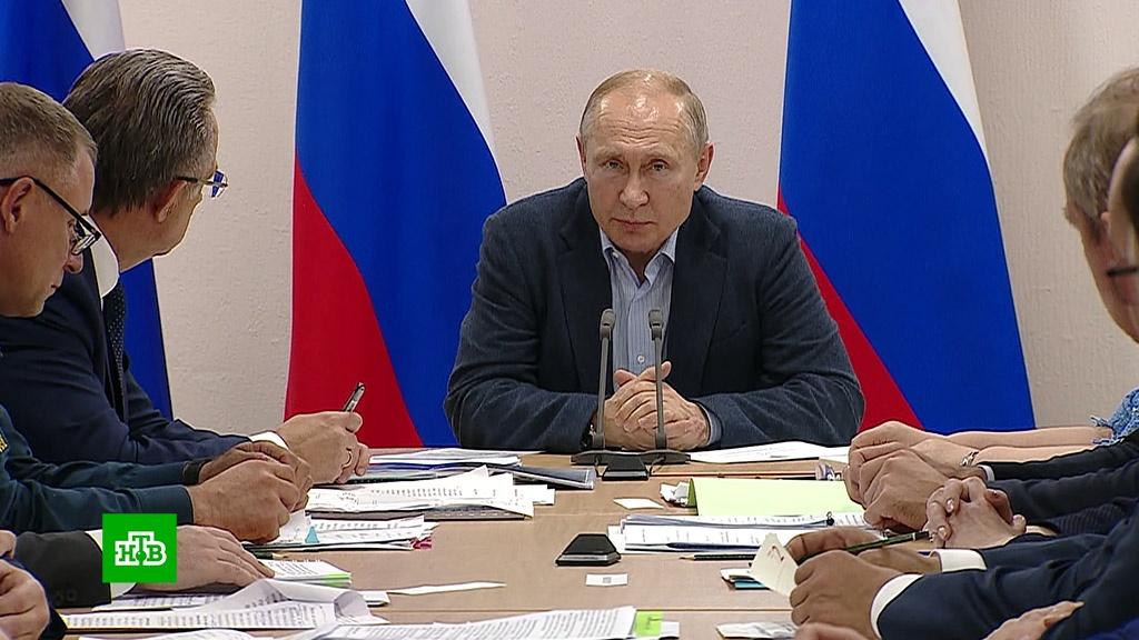 Путин выслушал жалобы людей и устроил разнос чиновникам.Иркутская область, компенсации, наводнения, Путин.НТВ.Ru: новости, видео, программы телеканала НТВ
