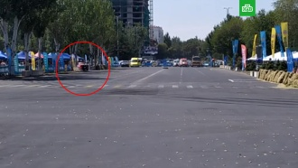 Автомобиль влетел взрителей на чемпионате по дрифту вБишкеке
