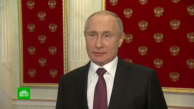 Путин встретился с экс-президентом Киргизии Атамбаевым.Киргизия, Путин, переговоры.НТВ.Ru: новости, видео, программы телеканала НТВ