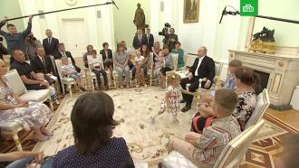 Юная участница встречи вКремле рассмешила Путина