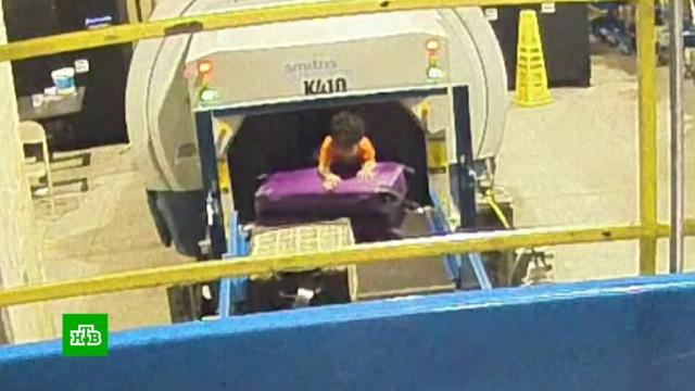 Двухлетний пассажир в Атланте едва не улетел под видом багажа.США, аэропорты, дети и подростки, курьезы.НТВ.Ru: новости, видео, программы телеканала НТВ