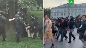 На Трубной площади вМоскве начали задерживать протестующих