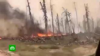 Сибирь вогне: людям приходится пробираться сквозь дым ипламя