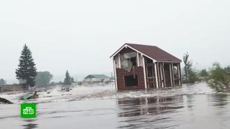 Вторая волна: уровень воды врайоне Тулуна растет каждые два часа