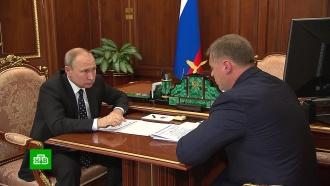 Врио главы Астраханской области доложил Путину освоих инициативах