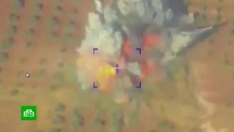 Российский авиаудар по боевикам в Сирии
