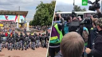 Протесты вМоскве: блогеров иполицейских оказалось больше, чем митингующих