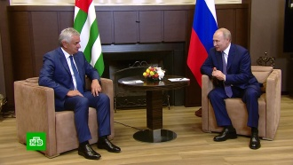Путин обсудил с Хаджимбой совместные проекты России и Абхазии