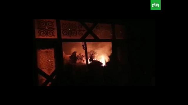 Пожар на территории резиденции экс-президента Киргизии: видео.задержание, Киргизия, коррупция, спецслужбы.НТВ.Ru: новости, видео, программы телеканала НТВ