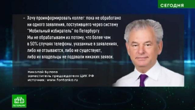 ЦИК призвал Петербург не устраивать дачного голосования.Санкт-Петербург, выборы.НТВ.Ru: новости, видео, программы телеканала НТВ